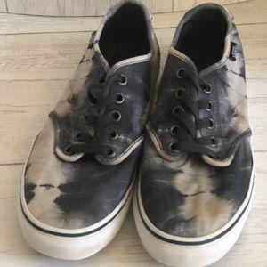 Vans Black and Gray Tie-Die Sneakers  Size 7.5